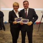 Z Panią Poseł do Parlamentu Europejskiego Jadwigą Wiśniewską w czasie kampanii wyborczej