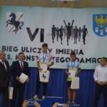 Uroczyste wręczanie nagród na Biegu Damrota w Pilchowicach