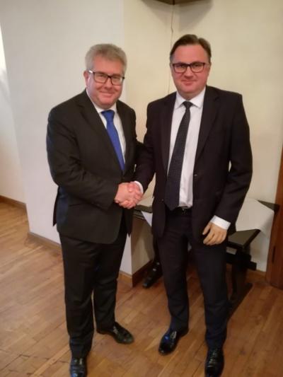 Spotkanie z europosłem Ryszardem Czarneckim w Knurowie