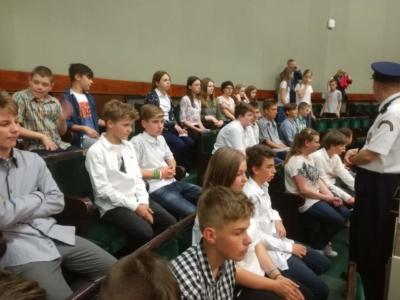 Wizyta uczniów w Sejmie RP