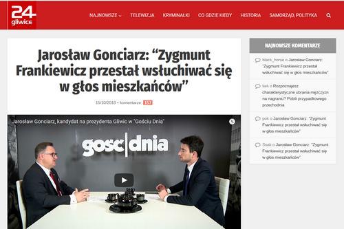 """Jarosław Gonciarz: """"Zygmunt Frankiewicz przestał wsłuchiwać się w głos mieszkańców"""""""