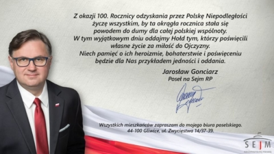 100. Rocznica odzyskania przez Polskę Niepodległości