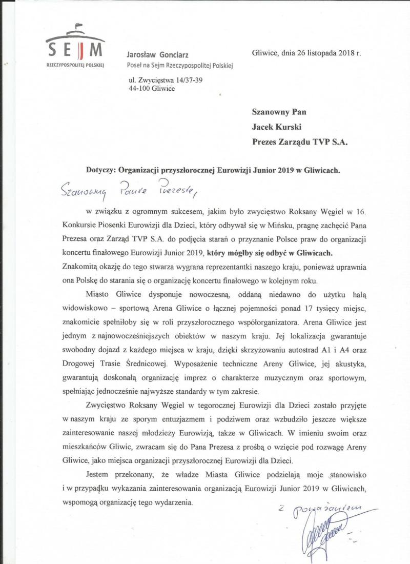 List do prezesa TVP