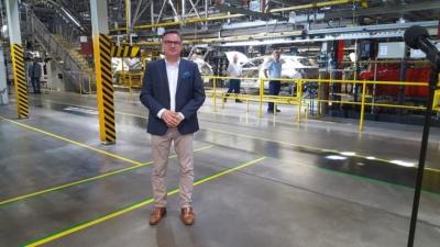 Premier Mateusz Morawiecki odwiedził dziś fabrykę Opla w Gliwicach