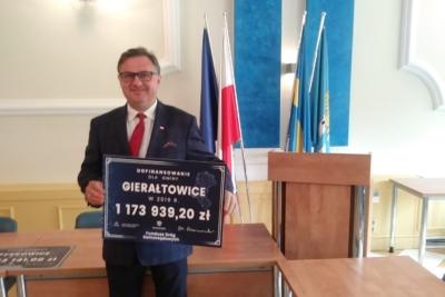 Gmina Gierałtowice z dofinansowaniem w ramach programu Funduszu Dróg Samorządowych