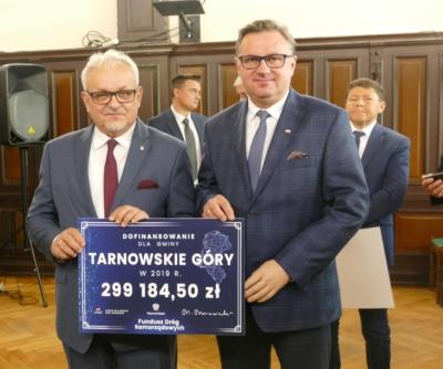 Tarnowskie Góry oraz powiat tarnogórski ze wsparciem finansowym z Funduszu Dróg Samorządowych