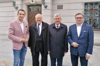 Marszałek Senatu Stanisław Karczewski w Gliwicach