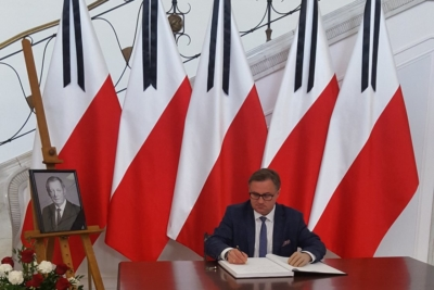Wpis do Ksiegi kondolencyjnej w Sejmie ku pamięci prof. Jana Szyszki